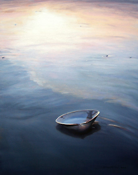 Washed Ashore, Oil on panel, 20in x 16in, $2200