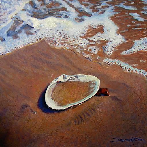 Tide's Advance, Oil on panel, 12in x 12in, $1200